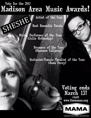 SHESHE MAMA nominations '17