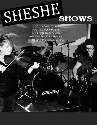 SHESHE shows (sept-oct '17)
